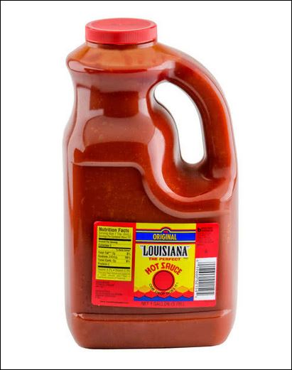 LOUISIANA hot sauce 4/1gallon plastic