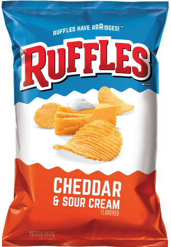 RUFFLES Potato Chips, Cheddar & Sour Cream 12/6.5 oz
