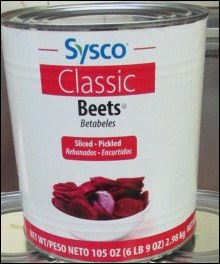 SYSCO CLASSIC, Sliced Beets Medium Fancy 6/#10
