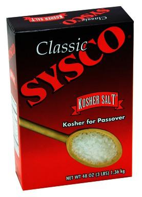 SYSCO Classic Kosher Salt 12/3 lb