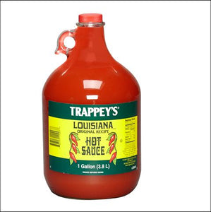 TRAPPEY'S Louisiana Hot Sauce, Glass 4/1 gal