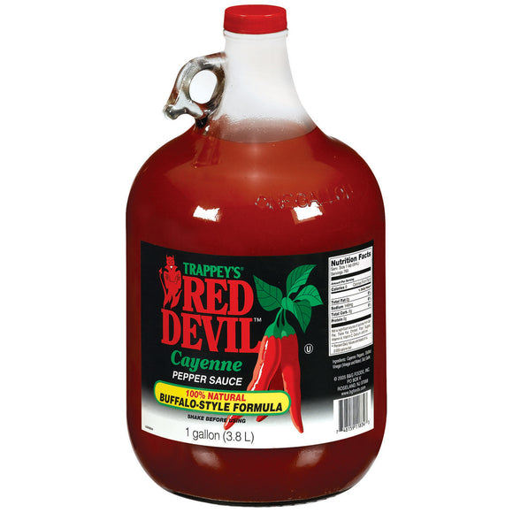 TRAPPEY'S RED DEVIL Hot Sauce, Original 4/1 gal