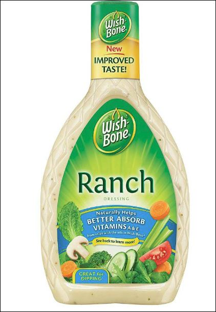 WISHBONE Ranch Dressing 6/16 oz