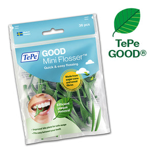 Mini Flosser TePe GOOD sostenible ecologico hilo dental
