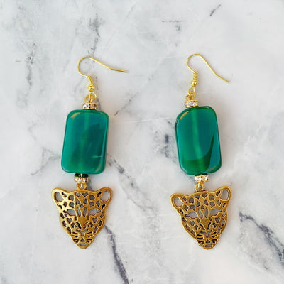 Jazzy Jade Jaguar earrings - Love My Character