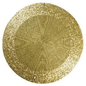 Gold Beaded Charger | City Mercantile