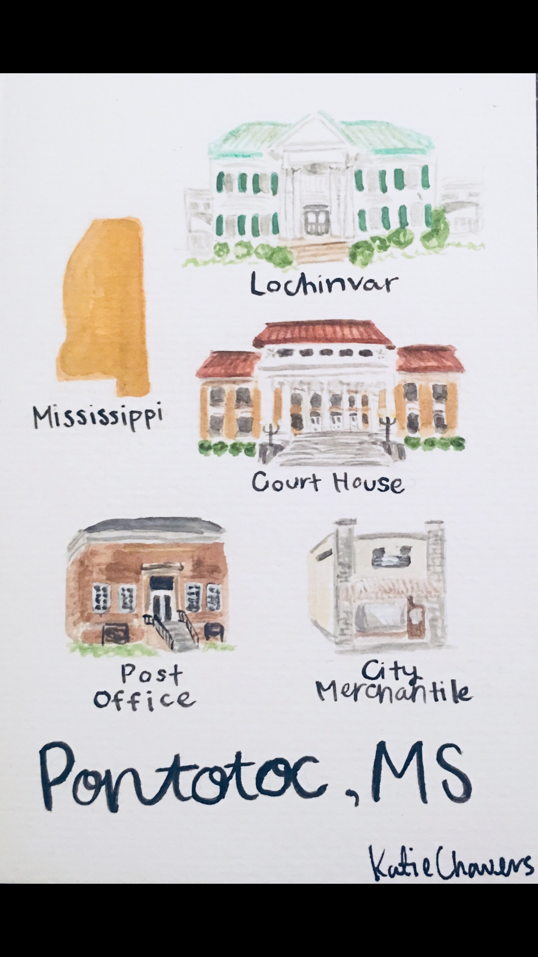 4x6 Watercolor Post Cards | City Mercantile