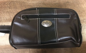 Pebble Grain Black and Brown Toiletry Bag | City Mercantile