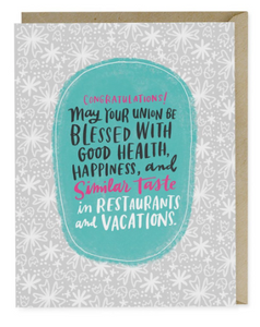 Restaurants Vacations Wedding Card | City Mercantile