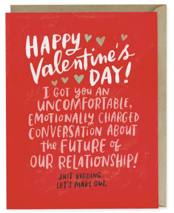 Uncomfortable Conversation Valentine Card | City Mercantile