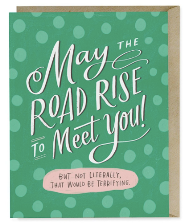 Road Rise To Meet You Good Luck Card | City Mercantile