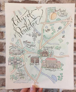 Map of Pontotoc | City Mercantile