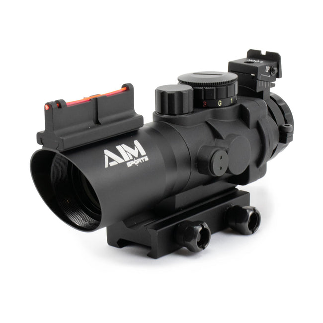 Aim Sports 4x32 Tri Illuminated Scope W/Fiber Optic Sight