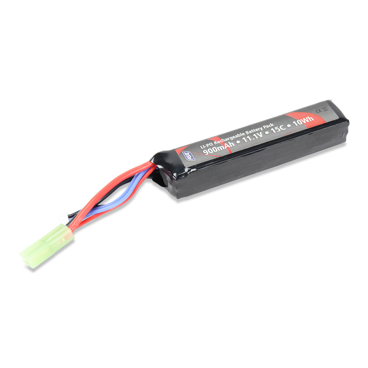 ASG 11.1V 900mAh LiPo Stick Type Battery with Small Tamiya Connector