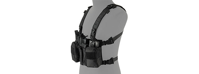 LANCER TACTICAL ADAPTIVE SNIPER CHEST RIG (BLACK)