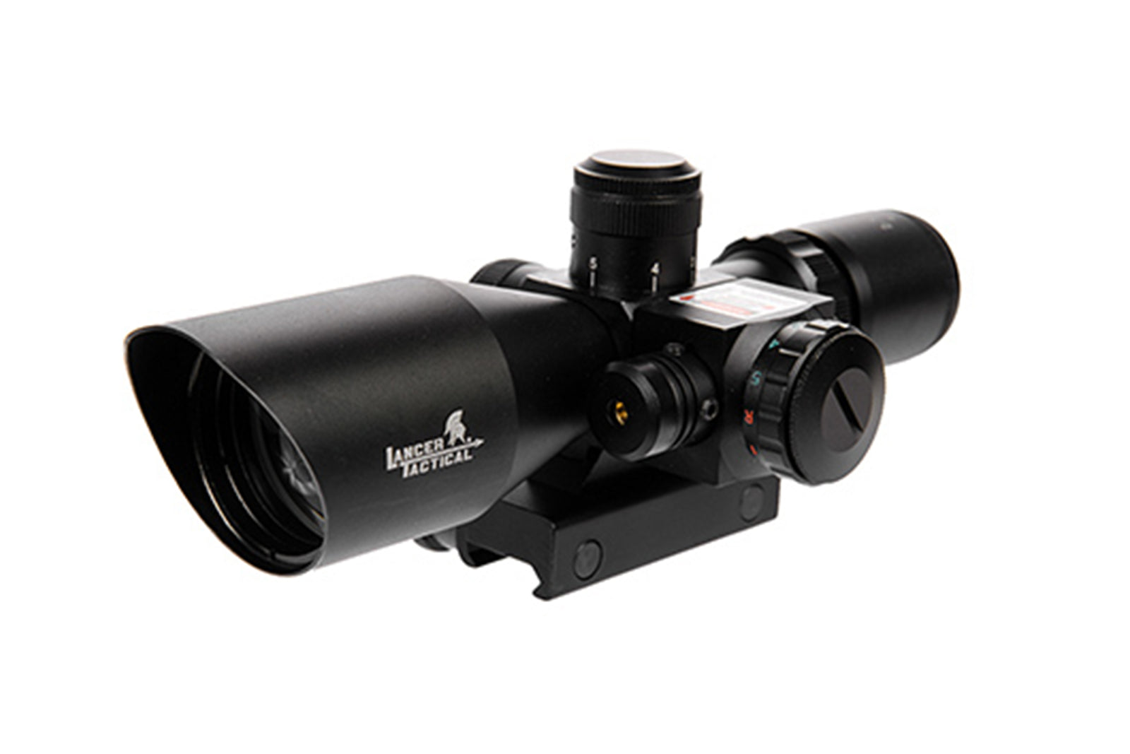 CA-414B 2.5-10X40 RED & GREEN DUAL ILLUMINATED SCOPE AND LASER