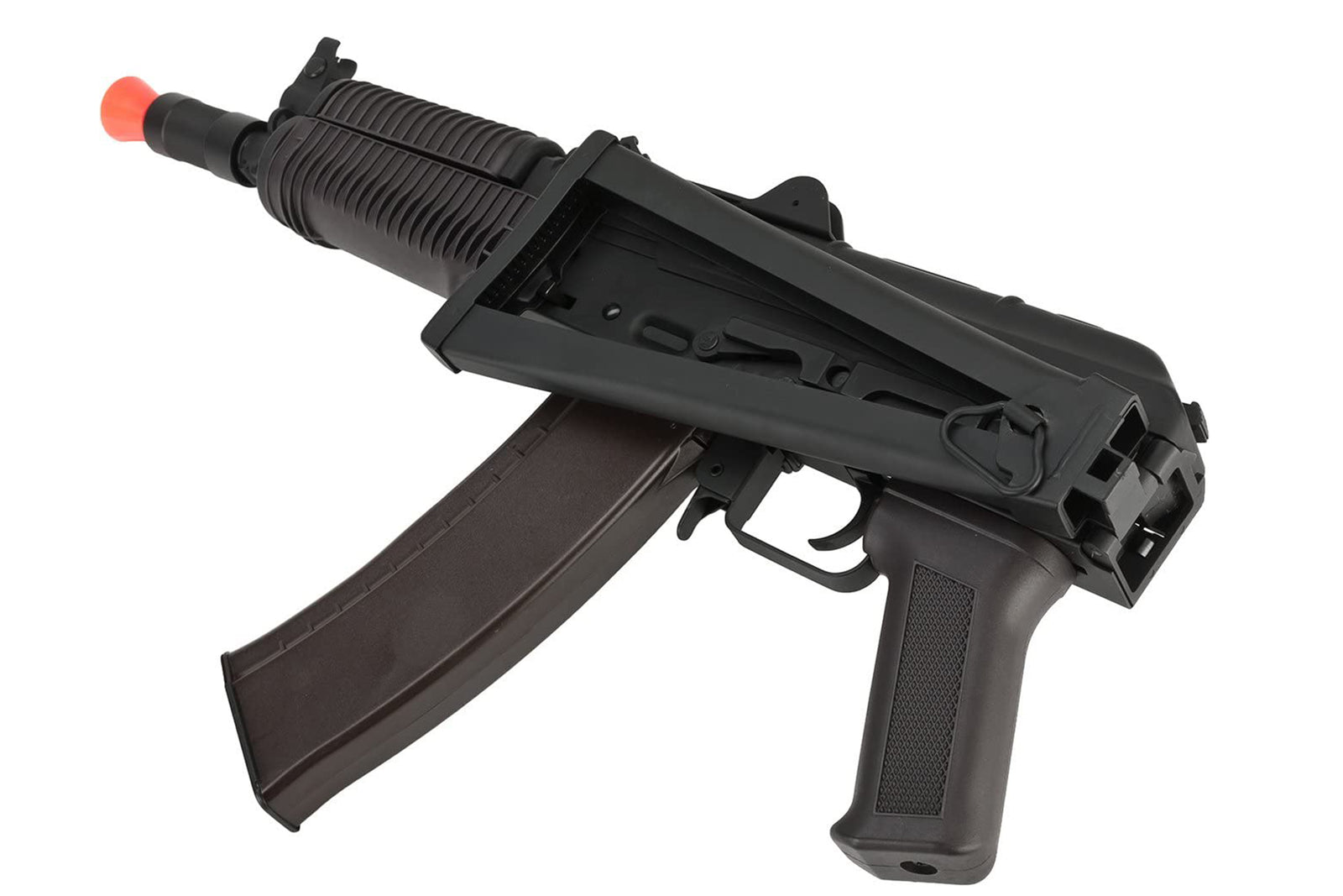 CYMA Standard Stamped Metal AK74U Airsoft AEG Rifle w/ Folding Stock and Polymer Furniture