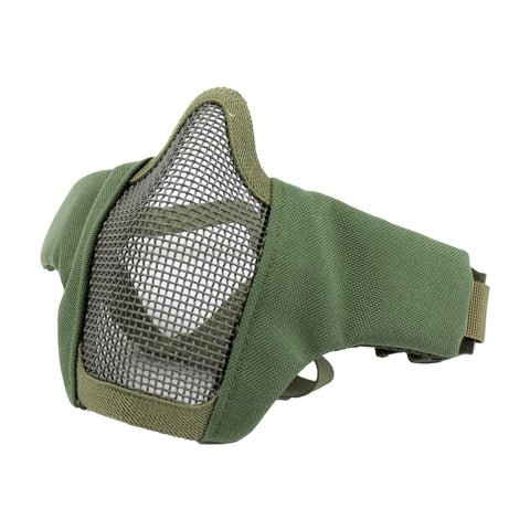 P-Force Airsoft Carbon Metal Mesh Lower Half Mask