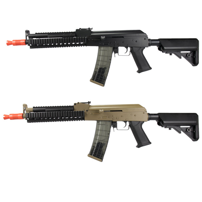 GE/JG AK47 RIS Crane Stock Airsoft  AEG Rifle w/ Battery & Charger