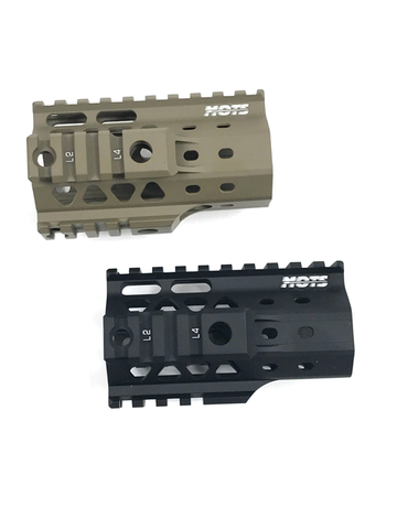 "CNC Aluminum Quad Rail Free Float Handguard for M4 / M16 AEG Rifles (Length: 4"")"