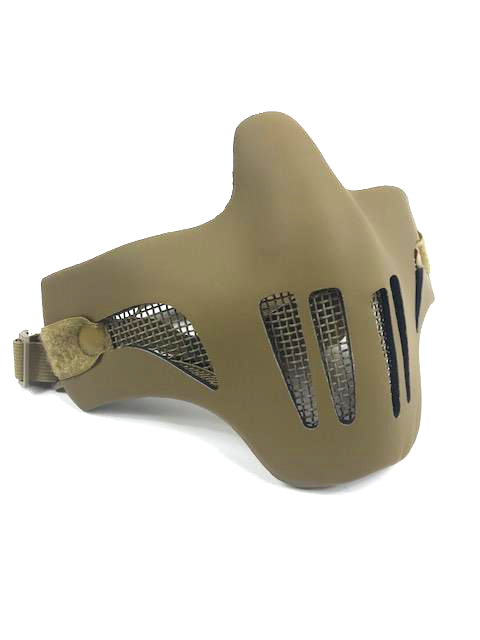 Strike Steel Lower Face Mask w/ Plastic Cover Black and Tan