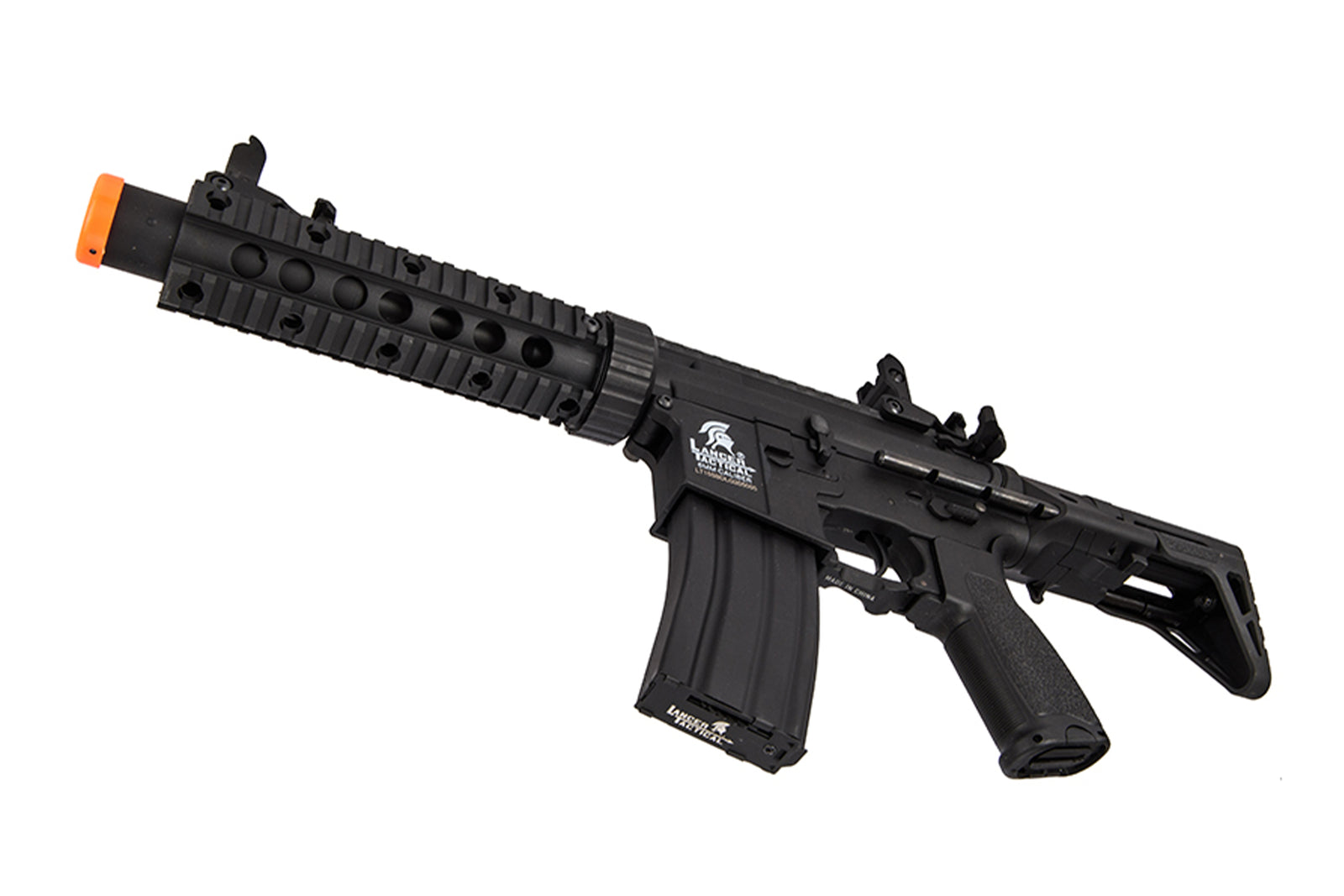 Lancer Tactical - LT-15SBDL-G2 - Gen 2 AEG Rifle w/ PDW Stock and Short Silencer - Black