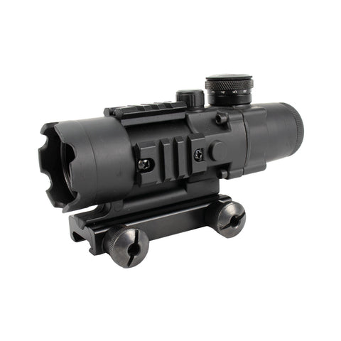 Tactical 1X25 MRO Reflex-Style 2.0 MOA Adjustable Red Dot Sight with QD Rise Mount