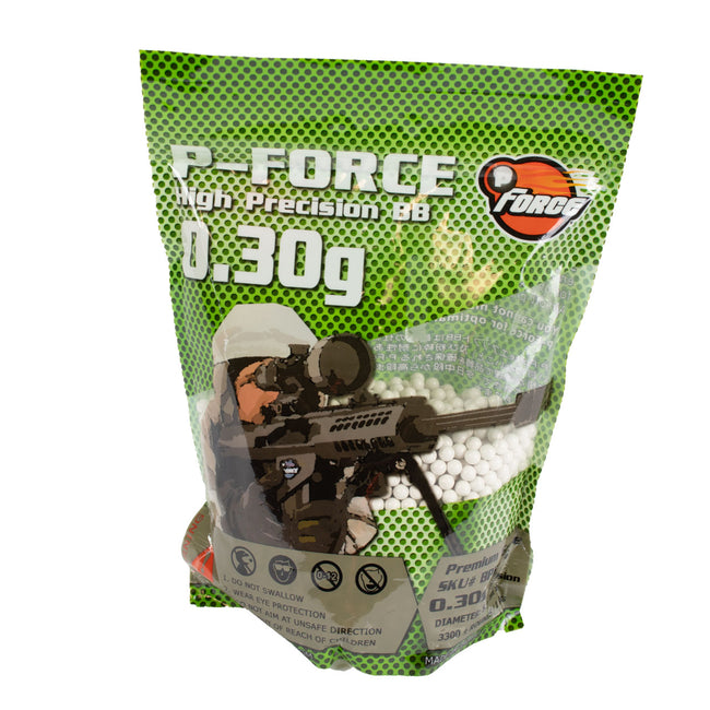 P-Force Premium Airsoft BB's 0.30G 3300 Count Bag