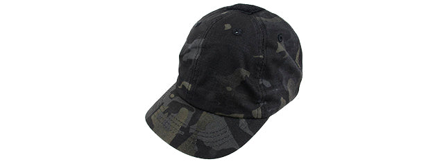 AMA ELASTIC BACK SHORT RECON ADJUSTABLE CAP - CAMO BLACK