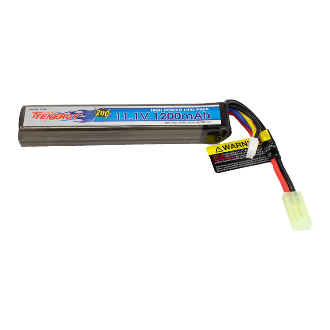 Tenergy 11.1V 1200mAh 20C Stick Type Lipo Battery