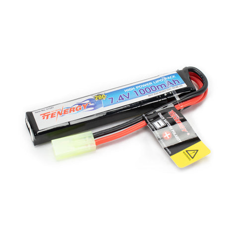 Tenergy 11.1V 1000mAH 20C Split Lipo battery Airsoft AEG Buffer Tube