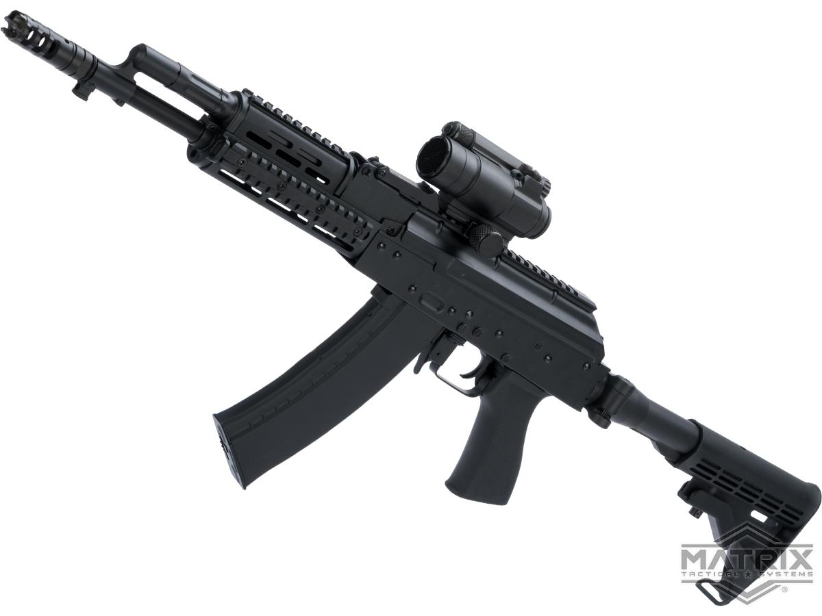 Strike Industries TRAX AK74 Stamped Steel Airsoft AEG Rifle w/ Folding Buffer Tube Stock (Model: Carbine)