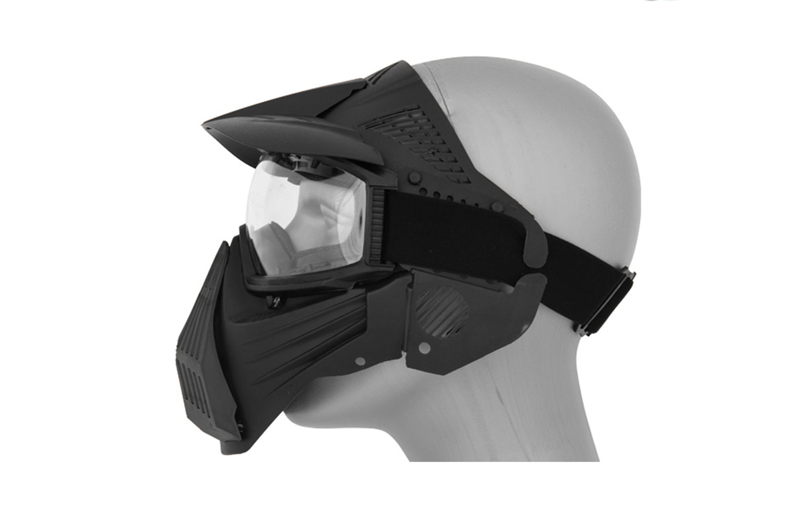 AMA TACTICAL FULL FACE AIRSOFT MASK W/ EYE SAFETY & VISOR