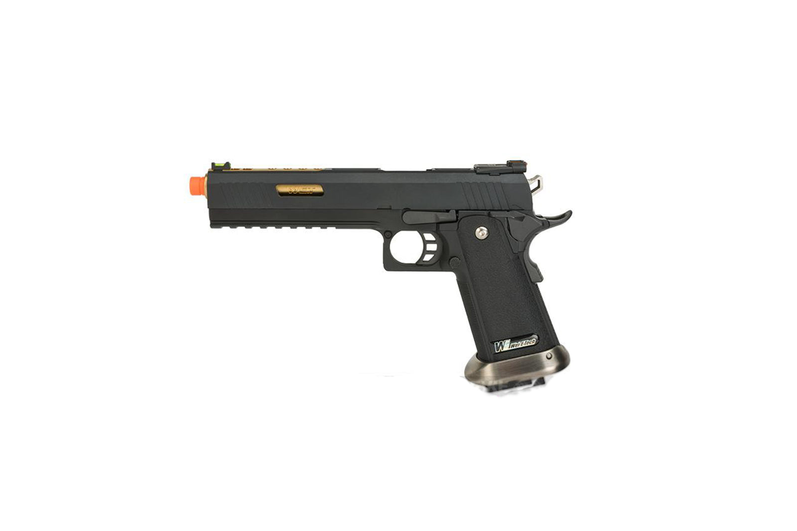"WE-Tech Hi-Capa 6"" IREX Competition GBB Airsoft Pistol (Color: Black / Gold Barrel)"