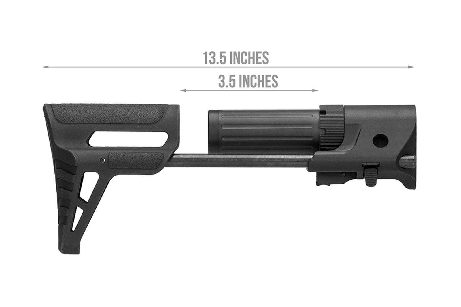 Lancer Tactical AEG Retractable PDW Stock