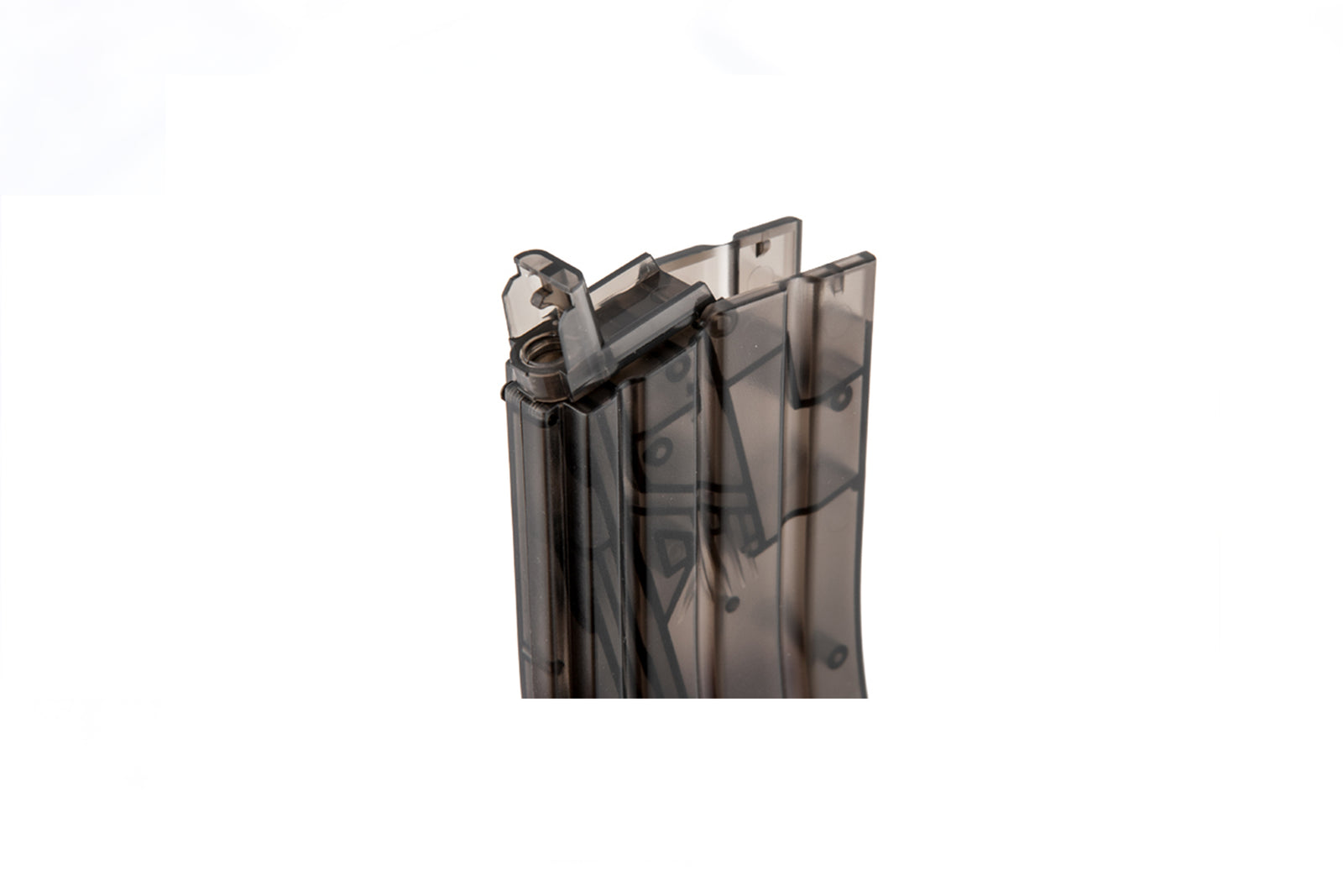 M4 Magazine Shaped 470rd BB Speed Loader - Transparent Black