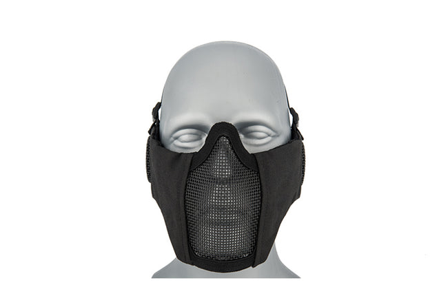 Lancer Tactical Low Profile Iron Face Padded Lower Half Face Mask w/ Ear Protection