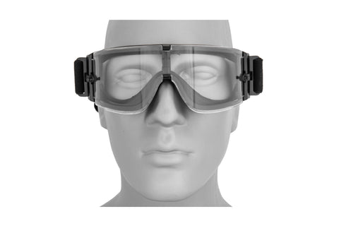 Lancer Tactical Rage Protective Black Airsoft Goggles
