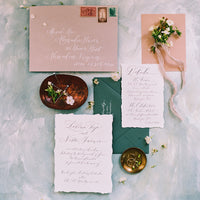 Custom handwritten calligraphy for your heirloom wedding paper suite