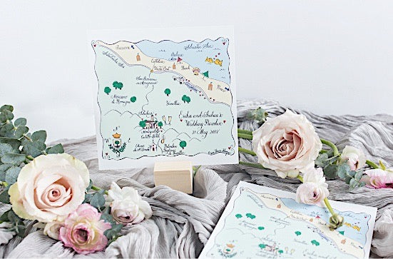 Custom Wedding Maps | Laura Hooper Calligraphy on