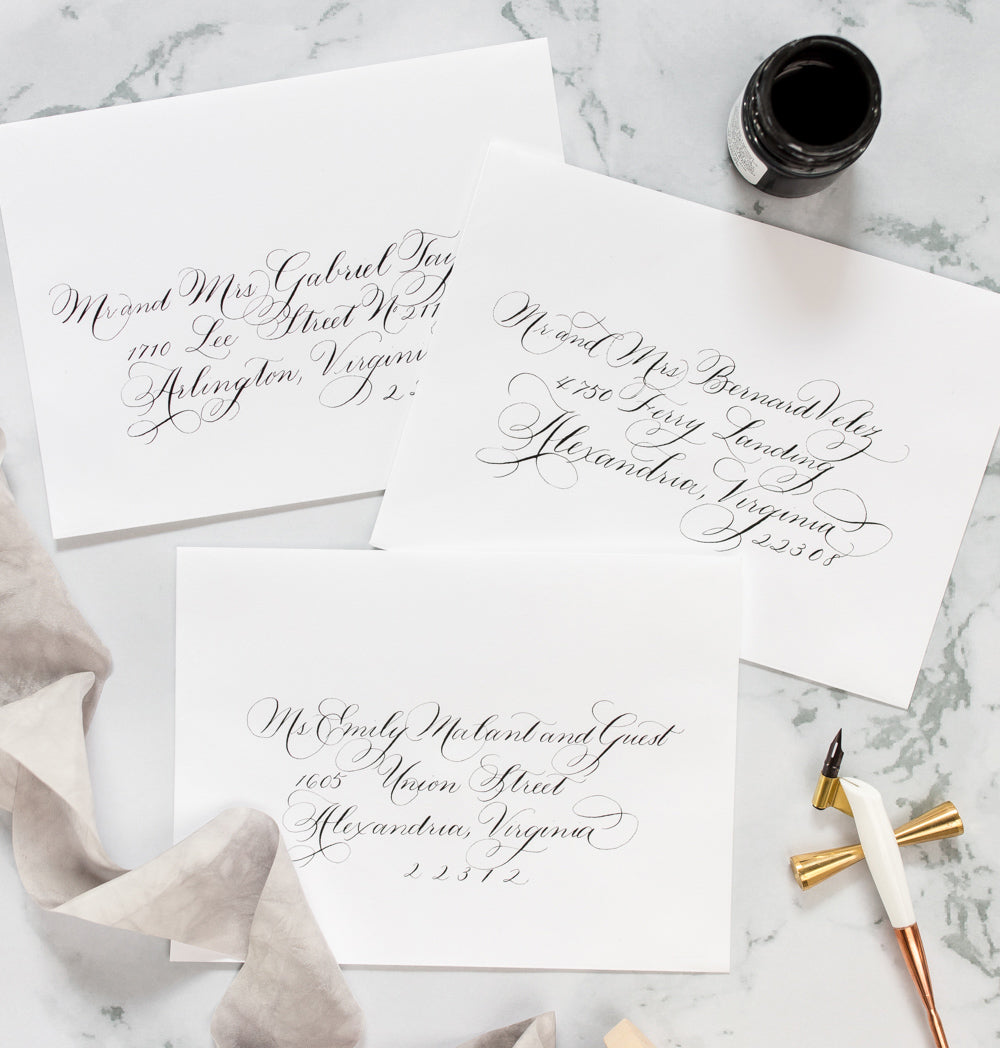 Handwritten Wedding Calligraphy