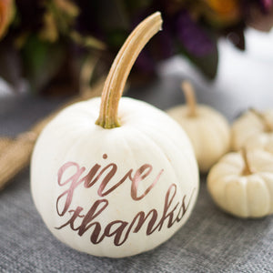 Custom Hand-Lettered Pumpkin