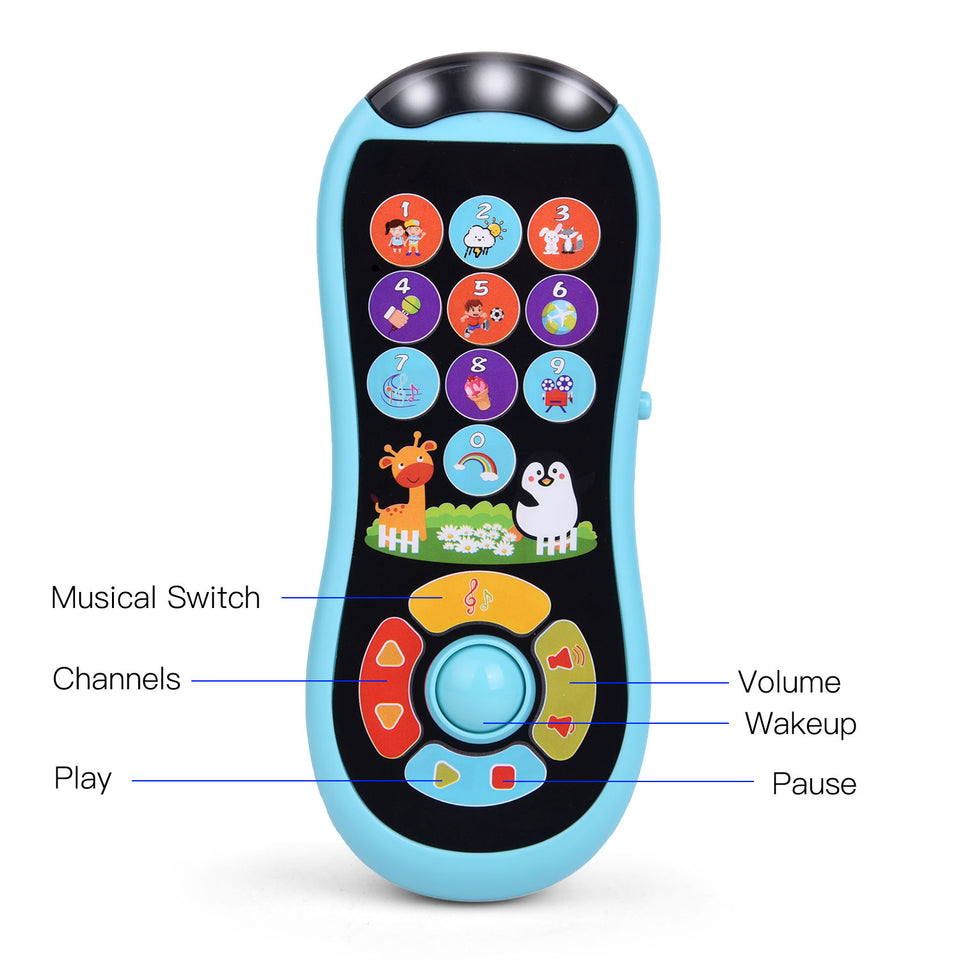 Learning Remote and Phone Toys with Music for Kids, Early Development Educational Learning Toy for Toddler