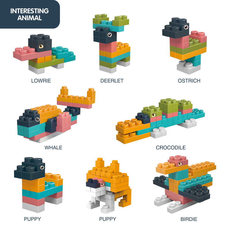 126 Pieces Soft Building Blocks for Toddlers, Learning Educational Building Bricks Set, Boys & Girls Gifts