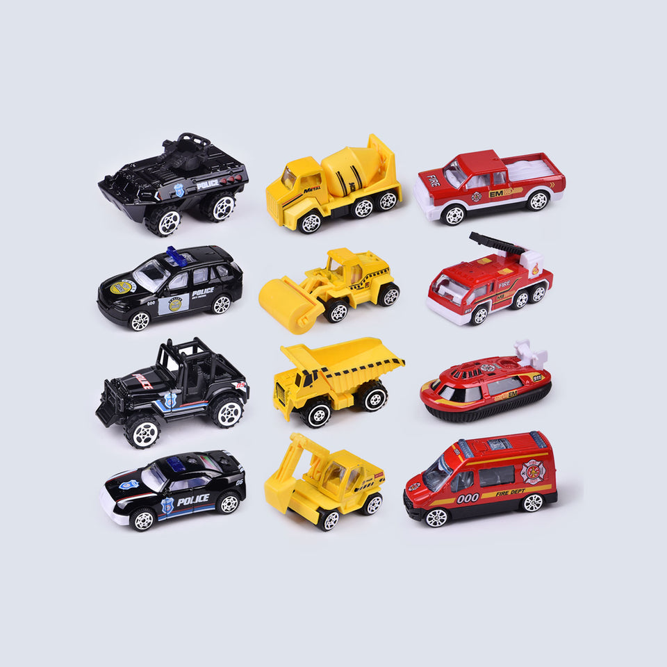 12 PCs Diecast Cars Filled Easter Eggs with Assorted Pull Back Vehicles, Toy Car Easter Basket Stuffers for Kids Party Favors, Easter Eggs Hunt