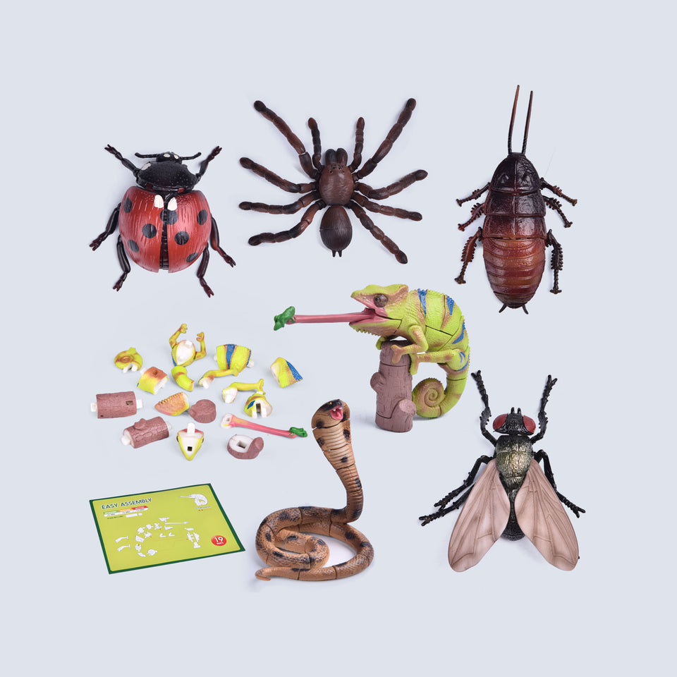 6 Pack Insect Figures 3D Puzzles, Kids Crafts for Birthday Party Favors, Kids Prizes, Goodie Bags Fillers