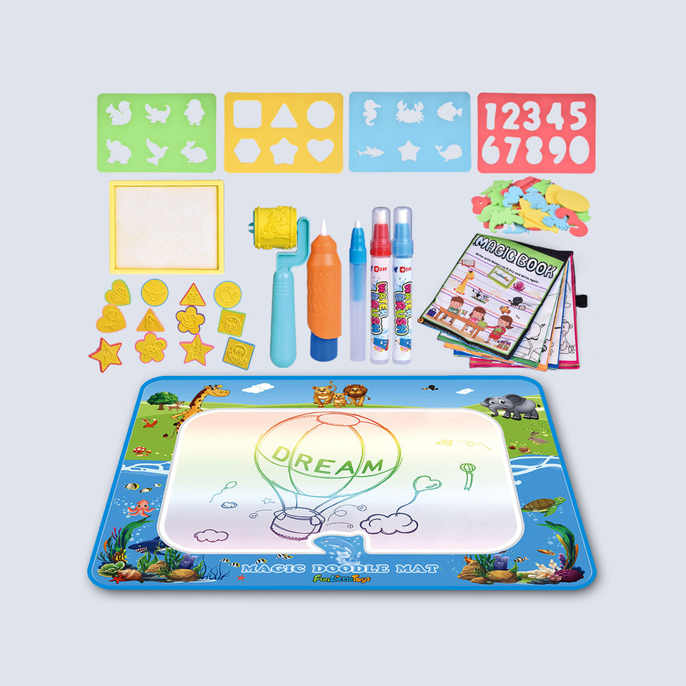 Magic Mat 39 X 30 Inches, Kids Water Doodle Mat, Writing Doodle Board, Kids Water Toys Outside Toys for Age 3 4 5 6 Year Old Boys Girls