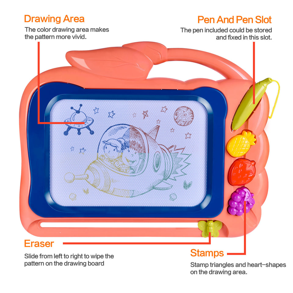 "2 Pack Magnetic Drawing Board for Kids, 12"" X 15"" Doodle Board Toddler Toys, Best Choice for Birthday Gifts"