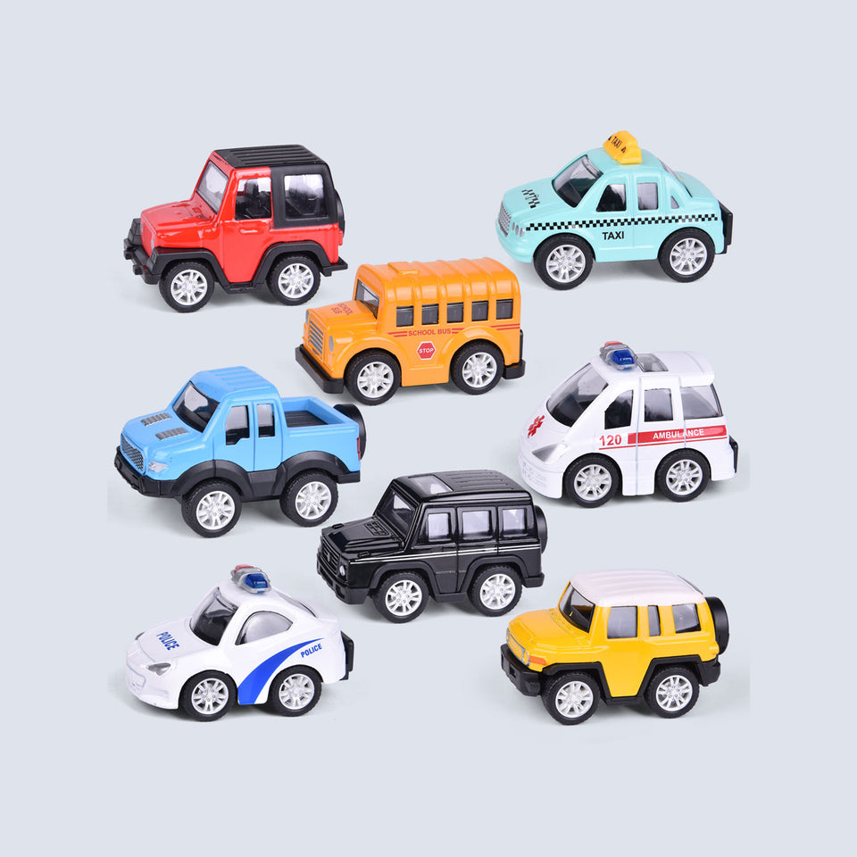 8 PCs Pull Back Cars Toys for Kids,1:48 Metal Die-cast Friction Power Cars for Boys, Car Party Favors for Boys, Goodie Bags Fillers, Pinata Fillers, Toy Cars for 2,3,4 Year Old Boys