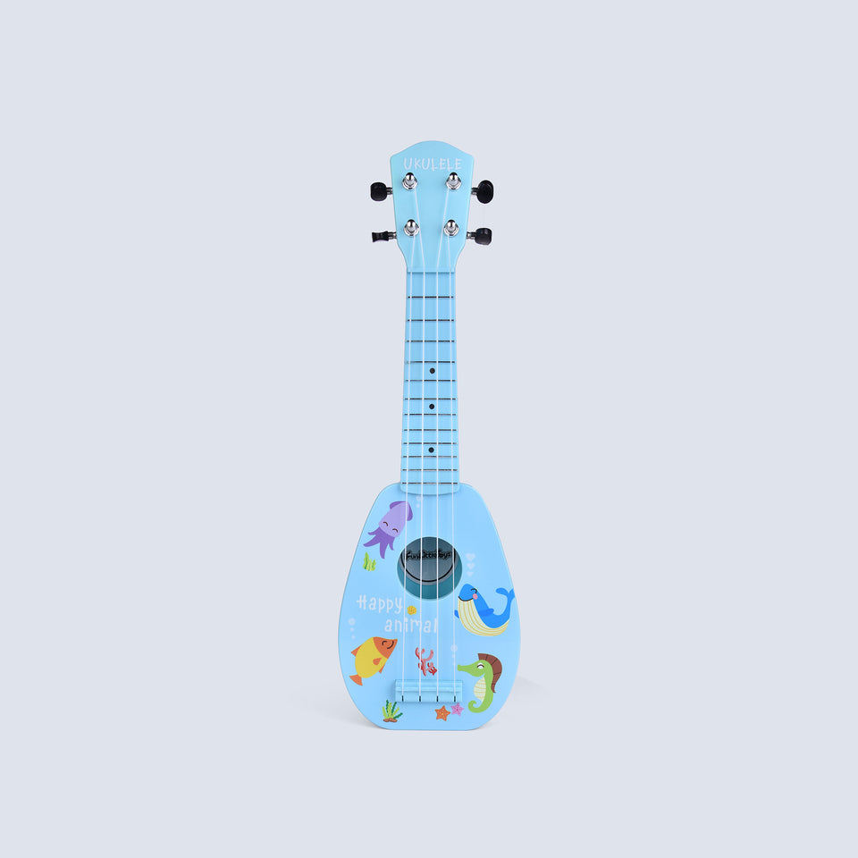 17 Inch Ukulele for Kids, Musical Instruments for Kids with Strap, Picks and Tutorial, Learning Educational Toys for Boys and Girls (Blue)